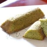 緑茶のバターケーキ
