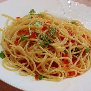 健康法師の いくらと木の芽の初夏のスパゲッティ