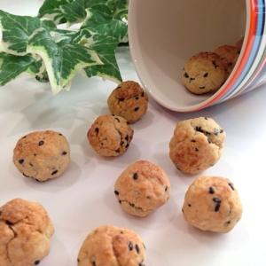 トースターでおつまみ!ごま油香る黒ごま醤油クッキー