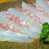 鯛のお刺身の料理屋さん風(昆布ジメ)