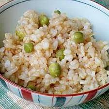 玄米でヘルシー お豆ご飯