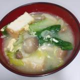 具沢山♪小松菜と厚揚げのお味噌汁