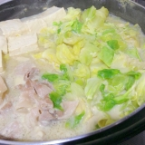 豆乳つゆで☆豚肉とキャベツの豆乳鍋