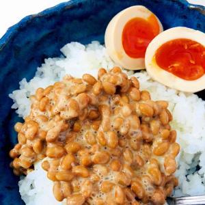 味玉と納豆ご飯