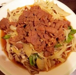 フライパン ジンギスカン-簡単、男の料理
