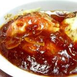 焼いた後オーブンでふっくら♪イタリアンハンバーグ