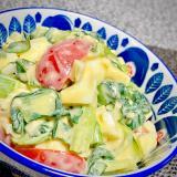 小松菜と卵のスイチリマヨサラダ