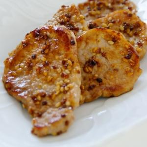 豚ヒレ肉で作る☆ハニーマスタード&セサミソテー