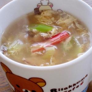 ヘルシーで簡単☆カニ玉春雨スープ
