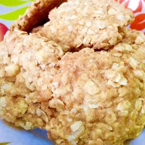 焼くまで15分☆サラダ油でオートミールクッキー