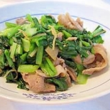 小松菜と豚のサッパリ炒め