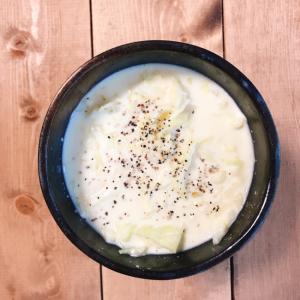 たっぷりキャベツのトロトロ豆乳スープ
