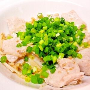 鶏とエノキの玉ねぎヨーグルトサラダ