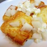 フレンチトースト・なしとクリームチーズとはちみつ