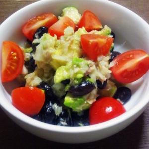 黒豆とアボカドのツナサラダ