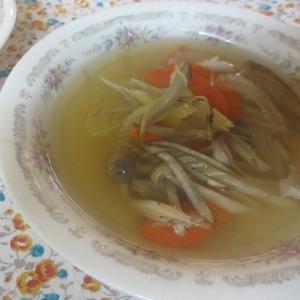 ごぼうとセロリの生姜スープ