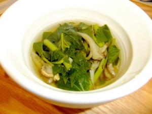 栄養たっぷり!焼きマイタケとモロヘイヤのスープ