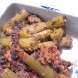 鰯の味噌煮缶とふきのピリ辛炒め