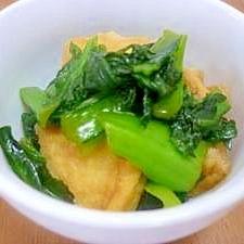 簡単我が家の小鉢メニュー・小松菜とあげのサッと煮♪