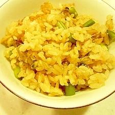 里芋とあさりの炊き込みご飯