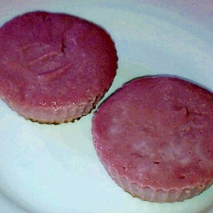 卵牛乳油小麦粉なし ベイクド豆腐チーズケーキ 紫芋