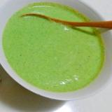 体に優しい、冷凍枝豆、ブロッコリーでスープ