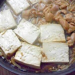 5分でできる!鶏肉とえのきの豆腐煮
