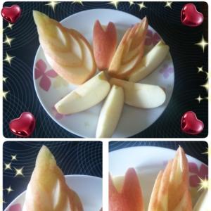 不器用な私にもできるリンゴの飾り切り