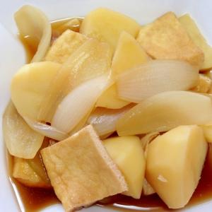油揚げとジャガイモのめんつゆ煮