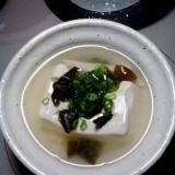 湯豆腐 乾燥めかぶで簡単