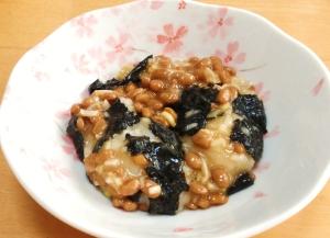 あっさり☆のり納豆餅