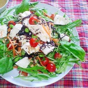減塩☆ナッツなど乾物が支えるサラダ