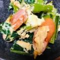 小松菜とコーンとウインナーのオイスター炒め