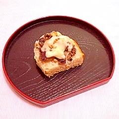 コロコロさつまいも小豆餡のチーズトースト