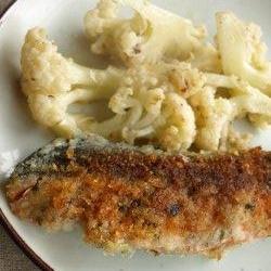 フライパンで鮭のパン粉焼き
