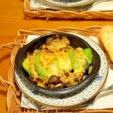 牡蠣とアボカドのチーズ焼き
