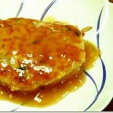 れんこんサクサク☆鶏ひき肉と豆腐のハンバーグ