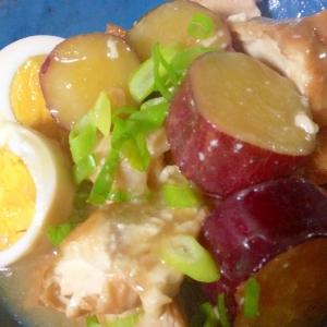 美味しい♪「鶏肉×厚揚げ×卵の煮物」o(^▽^)o