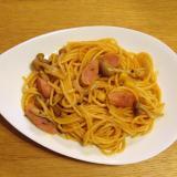 トマトジュース入り☆トマト味の濃いスパゲティ