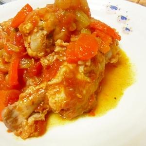 鶏肉といろいろ野菜のやわらかトマト煮 圧力鍋使用