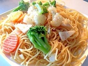 なべ1つで冷凍野菜のスパゲティ