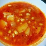 パスタソースでミネストローネ風スープ!