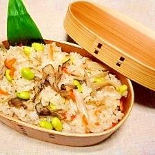 舞茸と枝豆☆炊き込みご飯