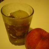 桃のコンポートと紅茶のジュレ