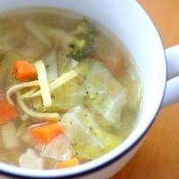 冬のコンソメスープ