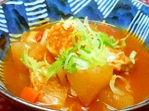 ☆我が家特製ミネストローネ風鶏肉団子の冬瓜スープ♪