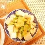 アボカド、豆腐、レタスのシンプルサラダ