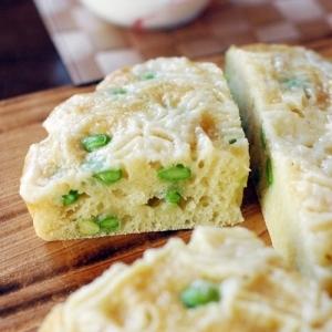 枝豆チーズ蒸しパン