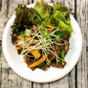 肉野菜炒め(ポン酢大根おろし)