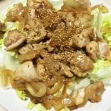 鶏もも肉と玉ねぎのポン酢マヨネーズ炒め